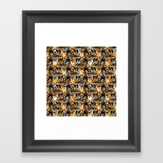 Aztec Pattern Orange Framed Art Print
