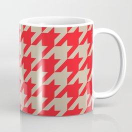 Houndstooth (Brown and Red) Coffee Mug