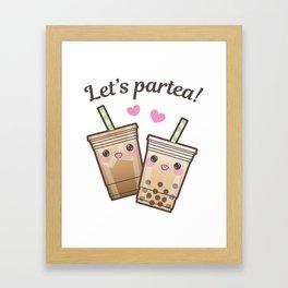 Let's Partea Framed Art Print