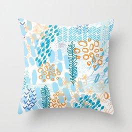 Blue Hue Throw Pillow