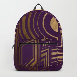 Art Deco Unfinished Love In Purple Backpack