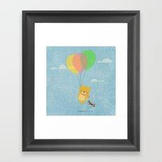 I can fly! Framed Art Print