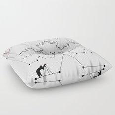 the Constellations Floor Pillow