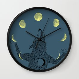 Moon Juggler Wall Clock