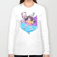 bee and puppycat Long Sleeve T-shirts featuring Bee and Puppycat- Dream by merrigel