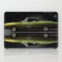 "seahawks iPad Cases featuring 1968 Dodge Charger R/T - ""12th Man"" Charger by Scott Crawford 