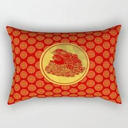 Three Legged Lucky Money Frog Feng-shui Rectangular Pillow