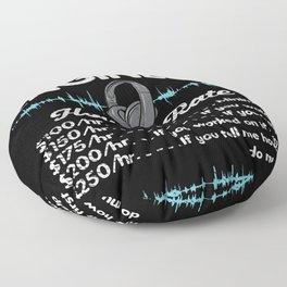 Audio Engineer Hourly Rate Motif Floor Pillow