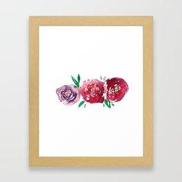 Three Red Christchurch Roses Framed Art Print