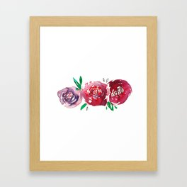 Three Red Christchurch Roses Framed Art Print