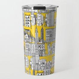 New York yellow Travel Mug