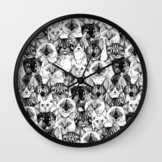 just cats Wall Clock