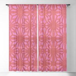 Mod pattern Sheer Curtain