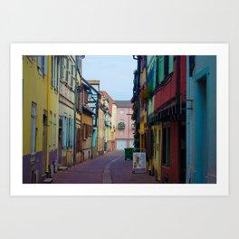 Magical Streets of Colmar Art Print