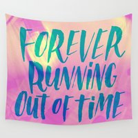 running Wall Tapestries featuring Forever Running by Josh LaFayette