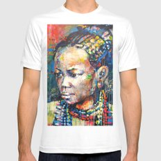 She - portrait of a beautiful woman Mens Fitted Tee White LARGE