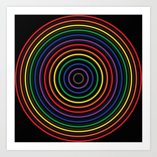Colorful circle Art Print