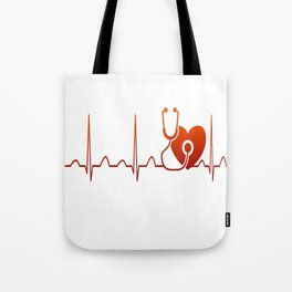 DOCTOR HEARTBEAT Tote Bag