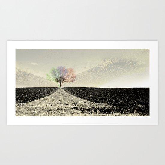 RGB Tree Art Print