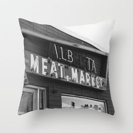 Alberta Meat Market Throw Pillow