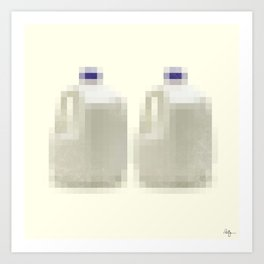 Censored Milk Art Print