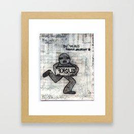 Boy for sale... Framed Art Print