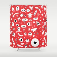 monsters Shower Curtains featuring Monsters by Vickn