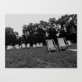 Deckchairs Canvas Print