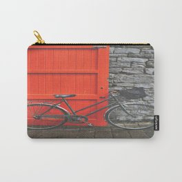Red Door and Vintage Bicycle  Carry-All Pouch
