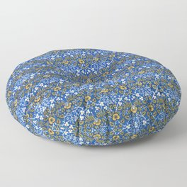 Eyebright green and yellow  sample (1882-1883) by William Morris Floor Pillow