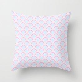 Pearly Glow Pastel Throw Pillow