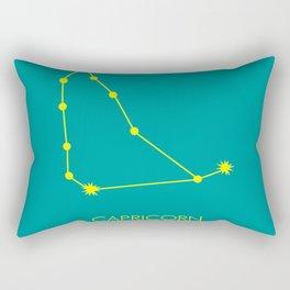 CAPRICORN (YELLOW-TEAL STAR SIGN) Rectangular Pillow