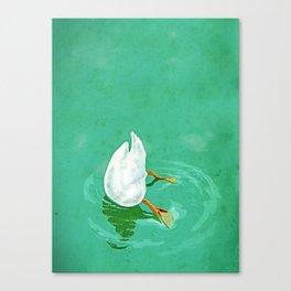Duck diving Canvas Print