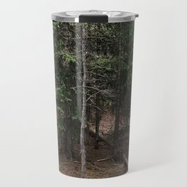 on the trail in breck Travel Mug