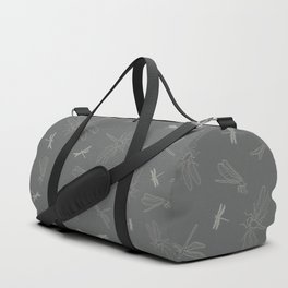 Dragonfly Pattern on Warm Grey Duffle Bag