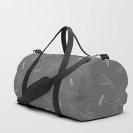 Dragonfly Pattern on Warm Grey Duffle Bag