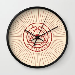 Dare to Discover - All Seeing Eye Wall Clock