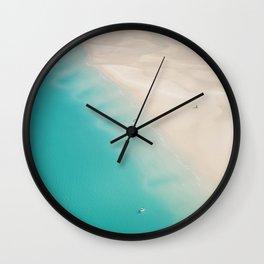 Teal Sands Wall Clock