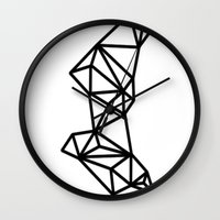 geo Wall Clocks featuring Geo by Miranda Williams