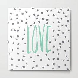 Love dot com — mint Metal Print