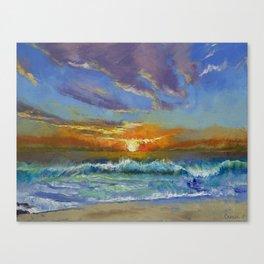 Malibu Beach Sunset Canvas Print
