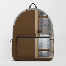 CLOSED CLEAR GLASS 8-PANEL WINDOW Backpack