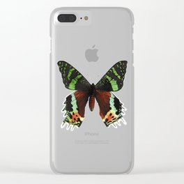 Urania Ripheus Butterfly Clear iPhone Case