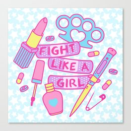 Girl Fighter Canvas Print