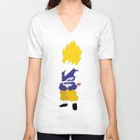 goku V-neck T-shirts featuring Goku SSJ by JHTY