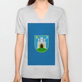 Flag of Zagreb Unisex V-Neck