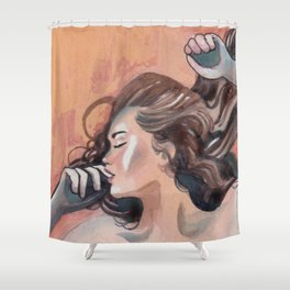Flavor of orange Shower Curtain