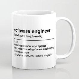 Software Engineer definition Coffee Mug