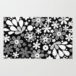 Retro. Floral motifs 4 Rug