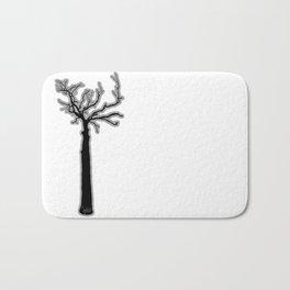 Black & White Tree's Bath Mat